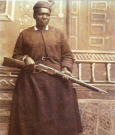 This is Mary Fields, not Harriet Tubman you ignorant asses ...